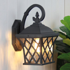 Salvius Steel Outdoor Wall Light