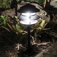 Fidenza Metal Garden Spike Bollard Light