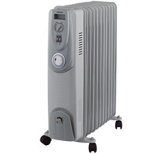 2400W Heller 11 Fin Oil Heater with Timer