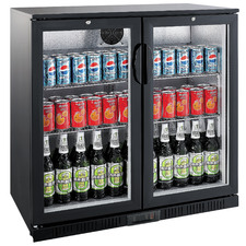 Heller 208L Double Door Beverage Fridge
