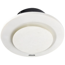 White Heller Round Ducted Bathroom Exhaust Fan