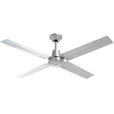 120cm Heller 4 Blade Brushed Stainless Steel Ceiling Fan