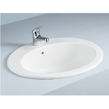 Jessica Inset Vanity Basin with Overflow