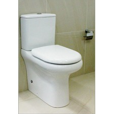 Compact BTW Bottom Inlet Toilet Suite Soft Close