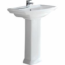 56cm Washington Pedestal Ceramic Basin