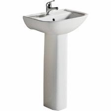 White Lara Pedestal Ceramic Basin