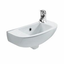 Compact Slim Wall Mounted Ceramic Basin