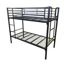 Black Cammy Steel Bunk Bed