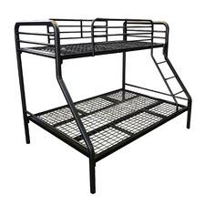 Black Miko Steel Bunk Bed