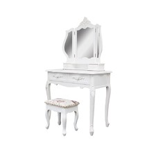 Dressing Table 4 Drawers with Mirror & Karin Stool