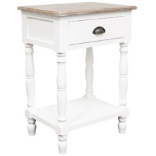 White Maddie French Provincial Bedside Table
