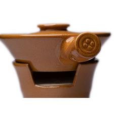 Brown Patton Ceramic Serving Bowl