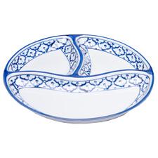 Penn Blue 3 Portion Round Ceramic Serving Plate