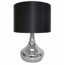 Table Lamp with Black Drum Shade (Set of 2)