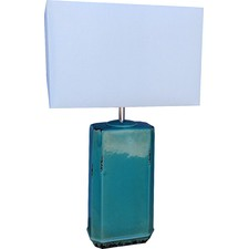 Roger Turquoise Table Lamp