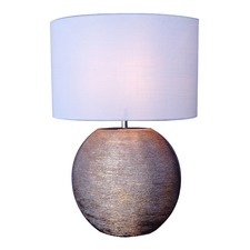White & Rose Gold Discas Table Lamp