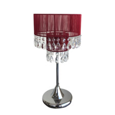 Bologna Metal & Crystal Table Lamp