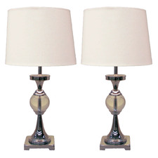 Crystal Ball Table Lamp in Chrome (Set of 2)