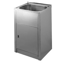 50cm Laundry Tub and Stainless Steel Cabinet - Compact