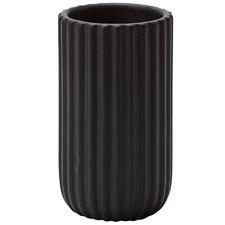 Black Ribba Ceramic & Oak Toothbrush Holder