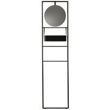 Black Jaxx Wall Towel Rail with Mirror