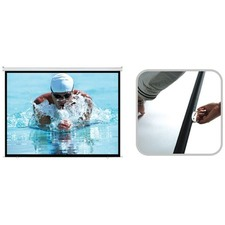 Manual Pull Down Projector Screen with Auto Lock - PSBC-100