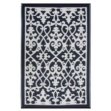 Venice Black Outdoor Rug