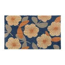 Floral PVC Backed Doormat