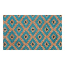 Blue Kimberley PVC Backed Doormat