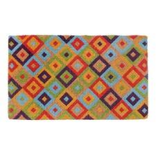Multi-Coloured Saman Coir Doormat