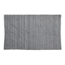 Black Herringbone Indoor/Outdoor Rug