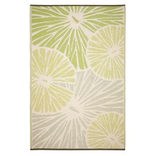 Green Citrus Lily Outdoor Rug