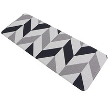 Grey Herringbone Kitchen Mat