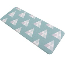 Pyramid and Floral Kitchen Mat