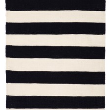 Black Stripe Nantucket Indoor Outdoor Rug