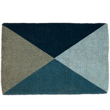 Blue Geometric Flag Doormat