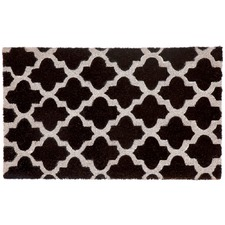 Black & White Girih Tile Doormat