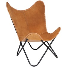 Argus Leather Butterfly Chair