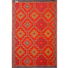 Orange Lhasa Indoor Outdoor Rug