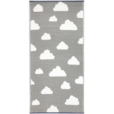 Grey & White Little Portico Cloud Rug