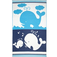 Blue & White Little Portico Family Rug
