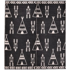Black & White Little Portico Teepee Rug