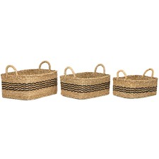 3 Piece Palash Jute Basket Set