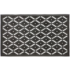 Black & White Asa Rubber Doormat