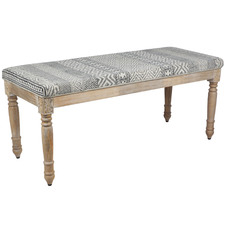 Patterned Norma Mango Wood Bench
