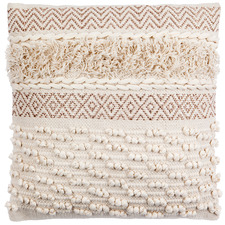 Beige Indus Cotton Cushion
