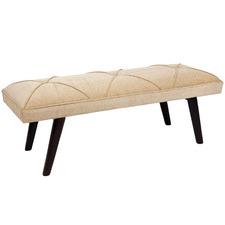 Beige Diana Mango Wood Bench