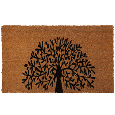 Brown Tree of Life Coir Doormat