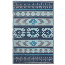 Blue Cusco Outdoor Floor Mat