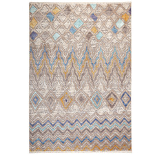 Multi-Coloured Bruges Distressed Rug